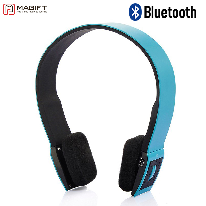 Magift Adjustable headband Headphones Bluetooth Headphone V2.1 + EDR studio Headset With Microphone Transmission Earphone veggieg v6800n bluetooth 4 0 edr nfc headband style headphone w microphone white