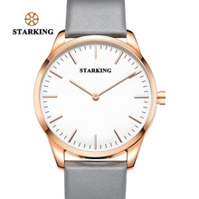 Старкинг Роскошные наручные Спорт Для мужчин S модный бренд Новое поступление 2017 года простой Стиль часы Для мужчин Уникальный серые кожаные Наручные часы мужской