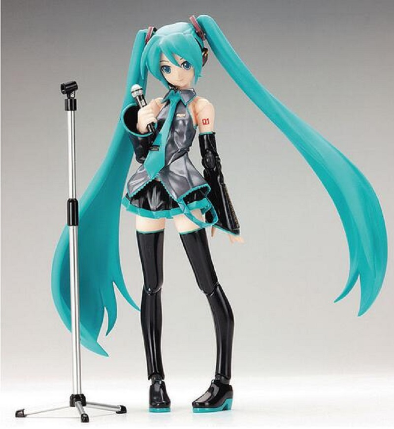 New hot sale anime figure toy  Hatsune Miku Collection 15CM gift for children free shipping фигурка на солнечной батарее suicide squad harley quinn 15 см