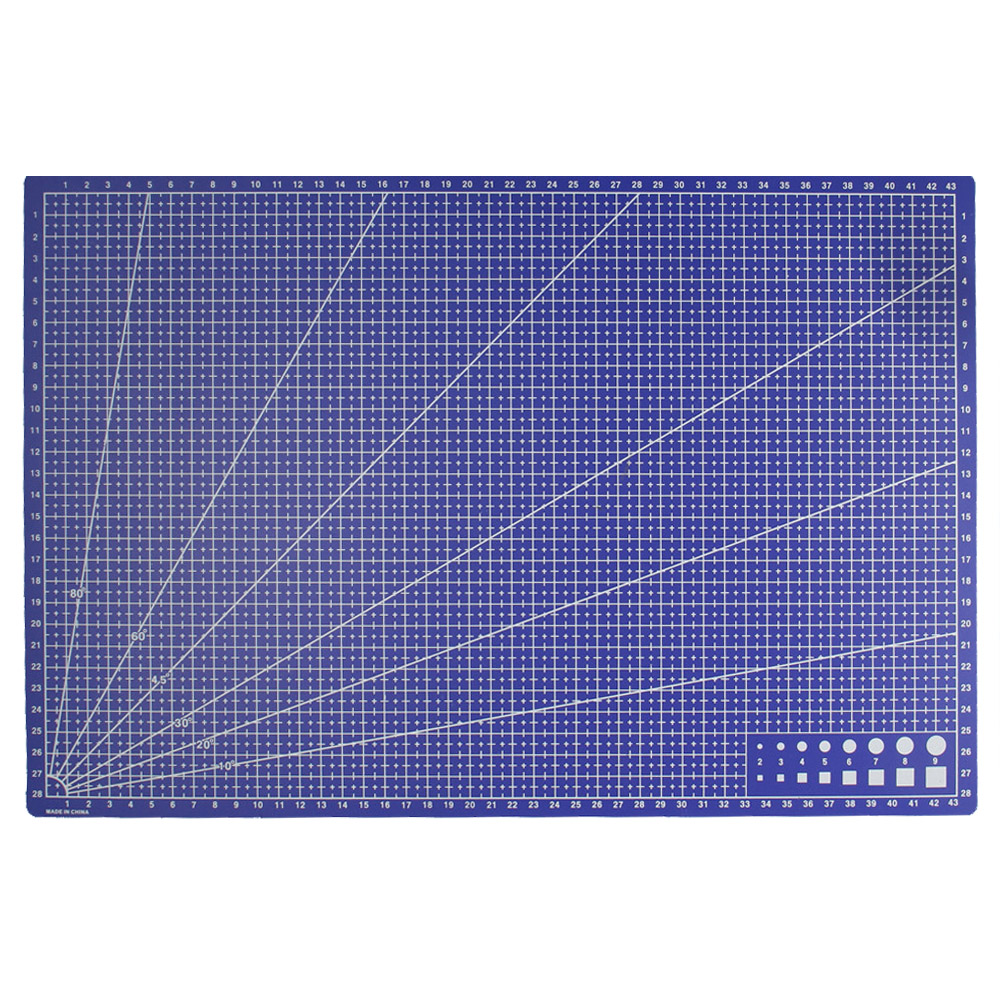 A3 Pvc Rectangle Grid Lines Cutting Mat Tool Plastic Craft