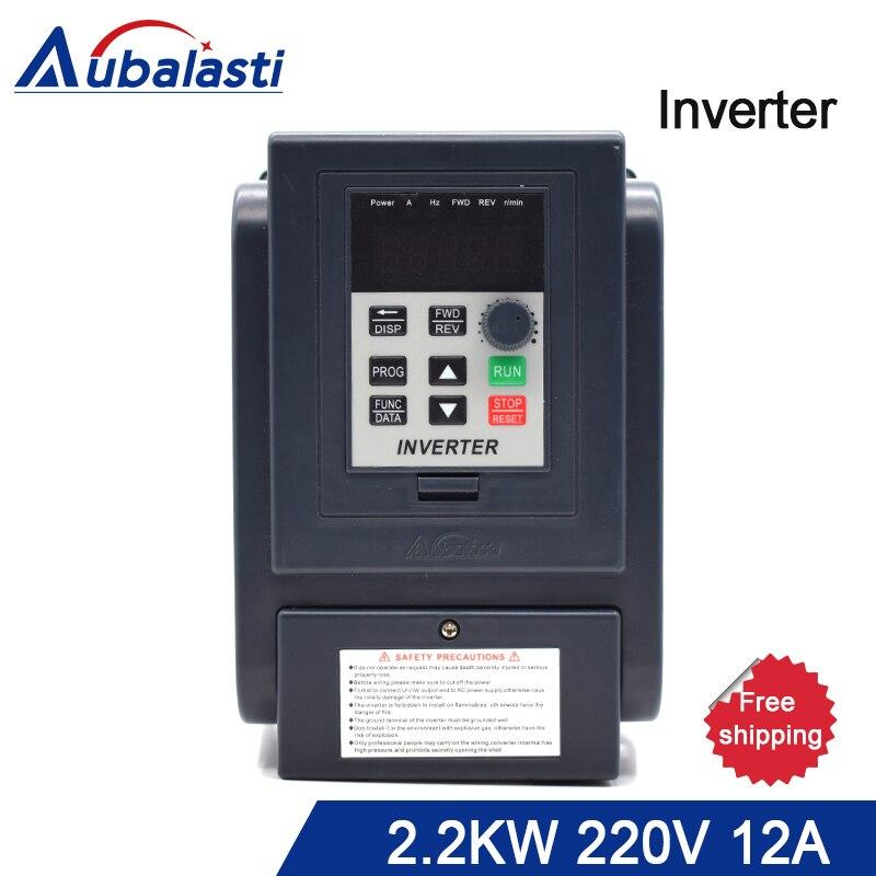 цена на Inverter 2.2KW 220V Frequency Converter 2.2KW 3HP 220V 12A AT4 3P 220V output 380v 400 Hz use for CNC machine