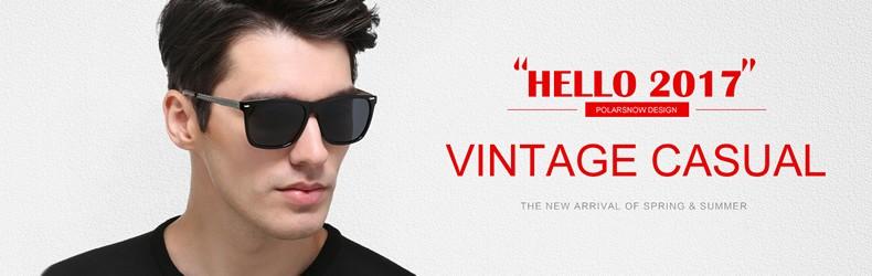 6b2c5d006c6 Polarsnow Aluminum+Tr90 Sunglasses Men Polarized Brand Designer ...