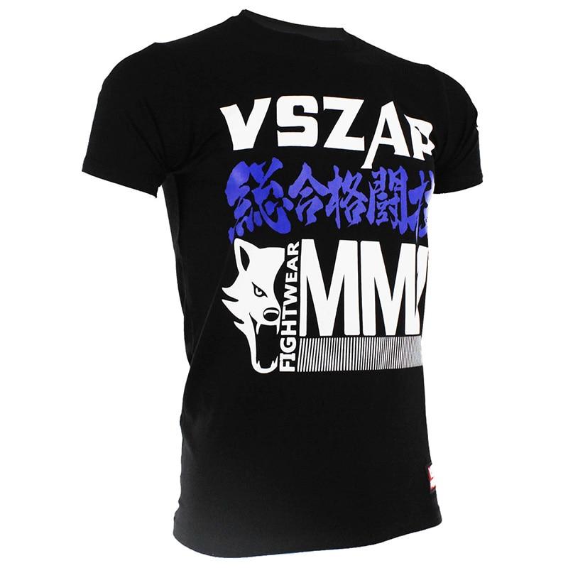 VSZAP Boxing Jersey Jiu Jitsu For Men's MMA Rashgardy Kick Boxing Camisetas Muay Thai T-shirt Jerseys Boxing Jersey
