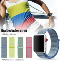 Fit For Apple Watch Series 4/3/2/1 Woven Nylon Strap Iwatchband Sport Loop Wrist Smartwatch Bracelet Band Classic Buckle