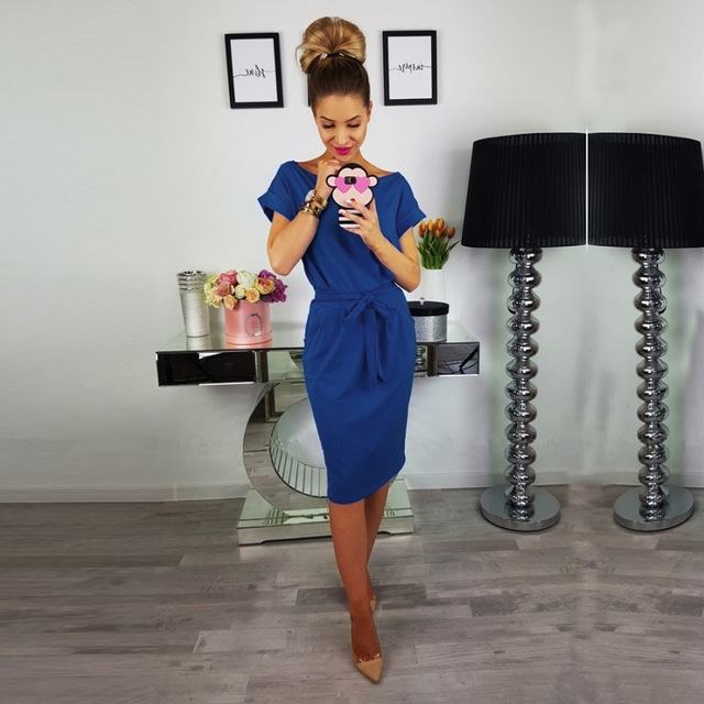 Women's Casual Pencil Dress (7 Colors)
