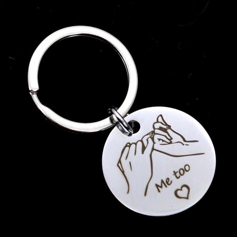 1 пара, подарок на день Святого Валентина, брелок из сплава с надписью, Подарок на годовщину для подруги, подарок на вечеринку