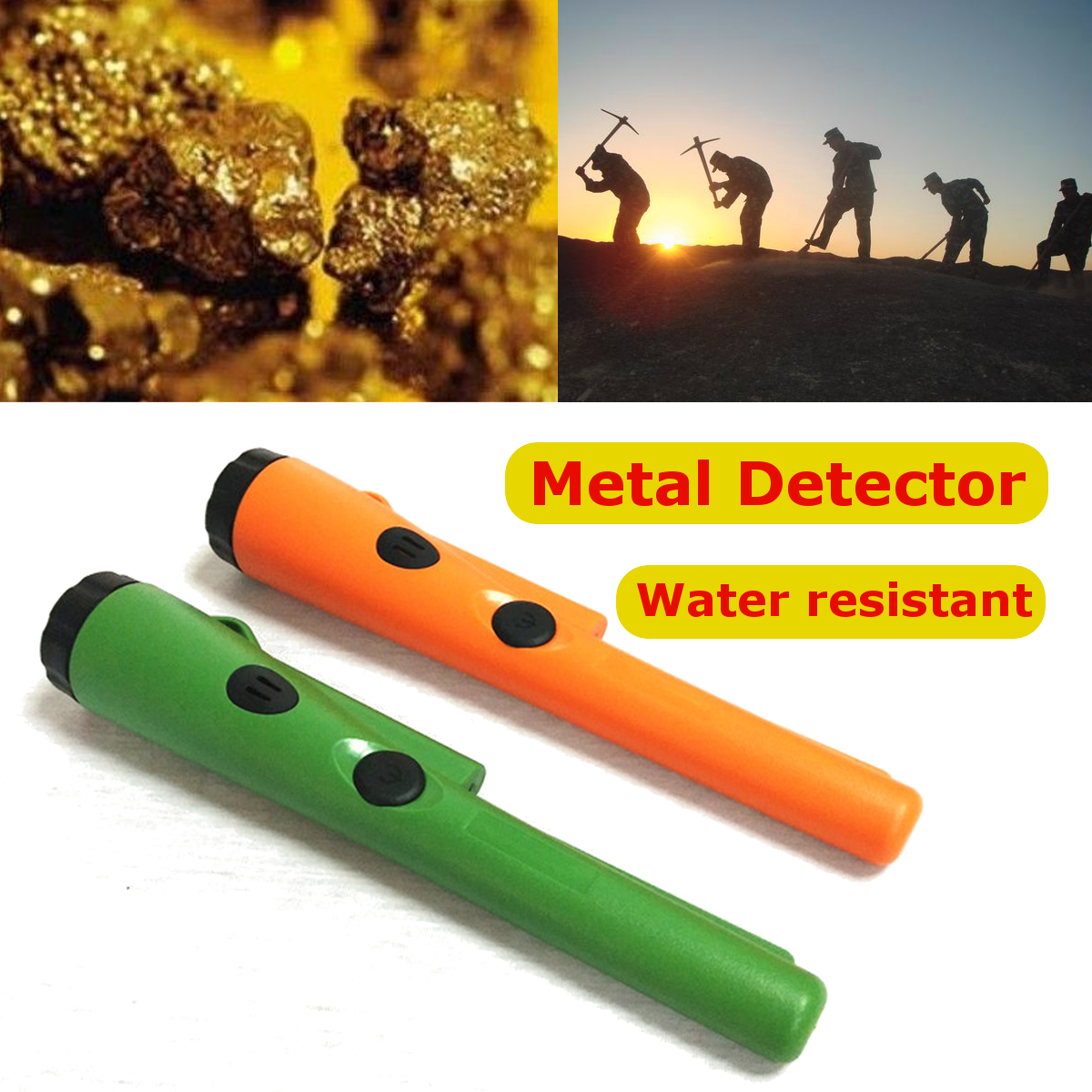 LED Pinpointer Pin Pointer Metal Detector Automatic Treasure Hunting Gold Detector Pinpointer Detector Tester Kits Waterproof underground metal detector pinpointer gold detector treasure hunter buzzer vibrate mini pin pointer led indicators belt holster