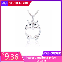 original dropshipping Cute Owl animal Love Necklace Girl 925 Sterling Silver Pendant Necklace For Women Fashion Jewelry Gifts