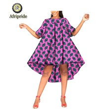 2019 African summer dresses ankara print fabric wax batik dashiki mini dress bazin riche ball gown AFRIPRIDE S1925053