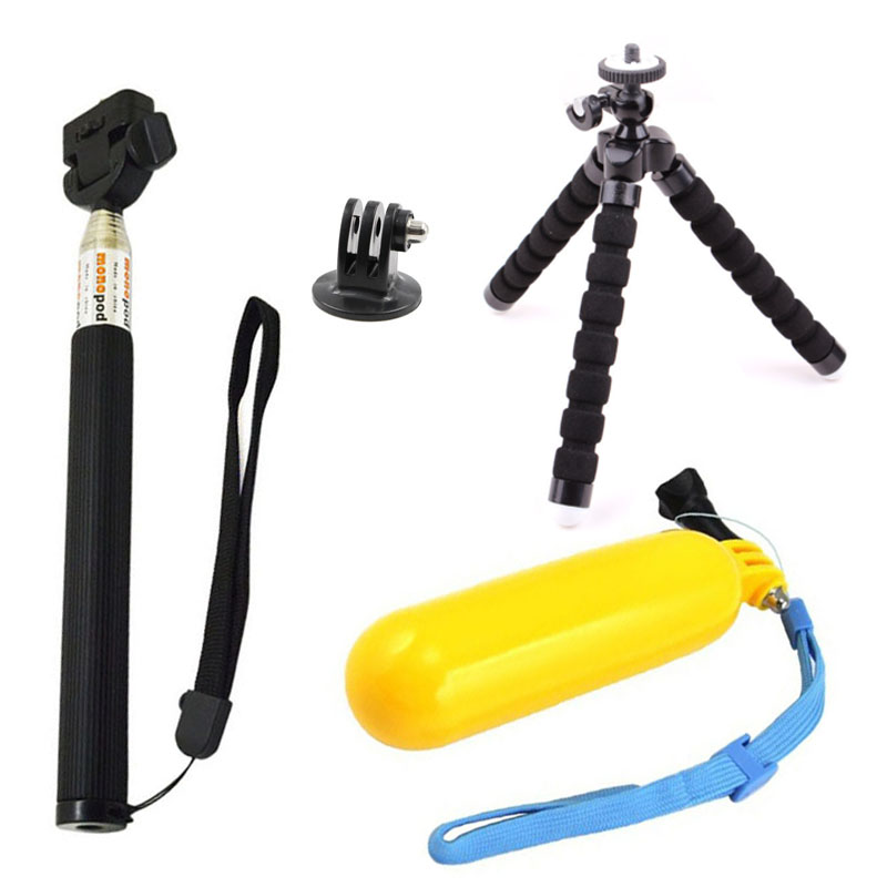 Tripod Accessories For GoPro Hero 5 Mount Floating Bobber Selfie Stick For Go Pro 4 Session SJCAM SJ4000 ENEK H9 Action Camera