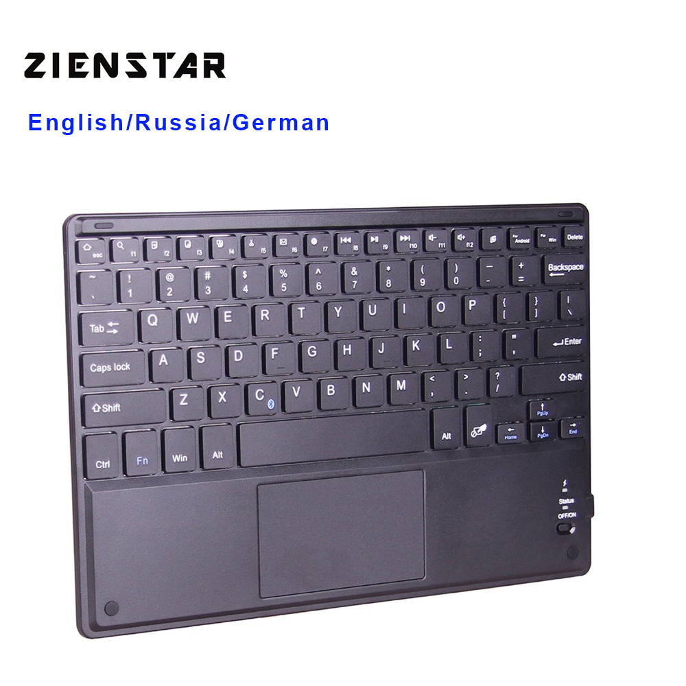 Bluetooth Keyboard For Android Samsung Tablet: Zienstar 10 Inch Wireless Bluetooth Keyboard With Touchpad For PC Computer/ Samsung Tab