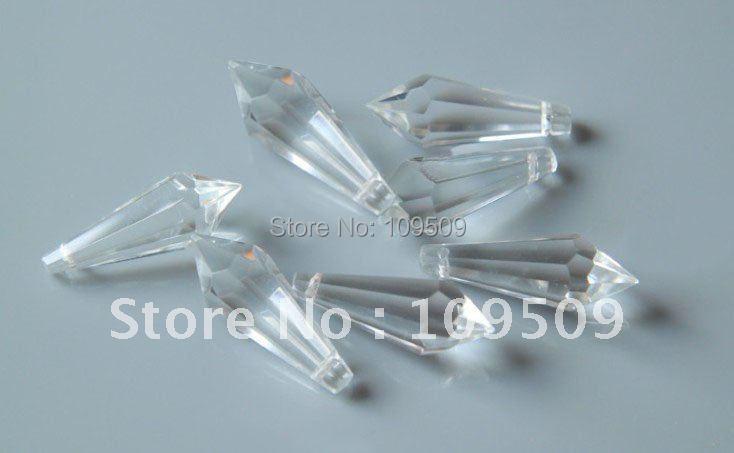 38 мм ясно сосулька падает люстра части кристалла висит Подвески занавес аксессуары дома decorati