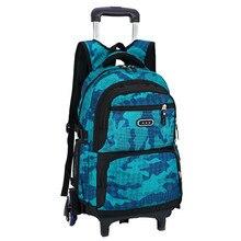 Kids Wheels Removable Trolley Backpack Wheeled Bags Children School Bag Boys Travel Bags Children's School Backpacks mochilas