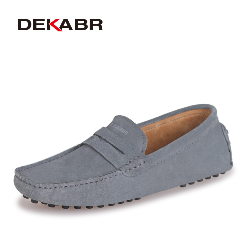 4d7d93eb9 DEKABR Brand Fashion Summer Style Soft Moccasins Men Loafers High Quality  Genuine Leather Shoes Men Flats Gommino Driving Shoes-in Men's Casual Shoes  from ...