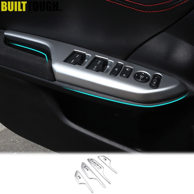 For Honda Civic Sedan Hatchback 2016 2017 2018 Chrome Interior Door Window Lift Switch On Panel Abs Cover Trim Car Styling
