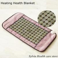 Jade blanket therapy electric massage cushion with infrared heat jade stone mattress cushion 84*49cm