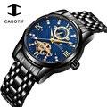 CAROTIf Moon Phase Мужские s часы водонепроницаемые автоматические механические часы из нержавеющей стали Tourbillon наручные часы мужские Horloges Mannen