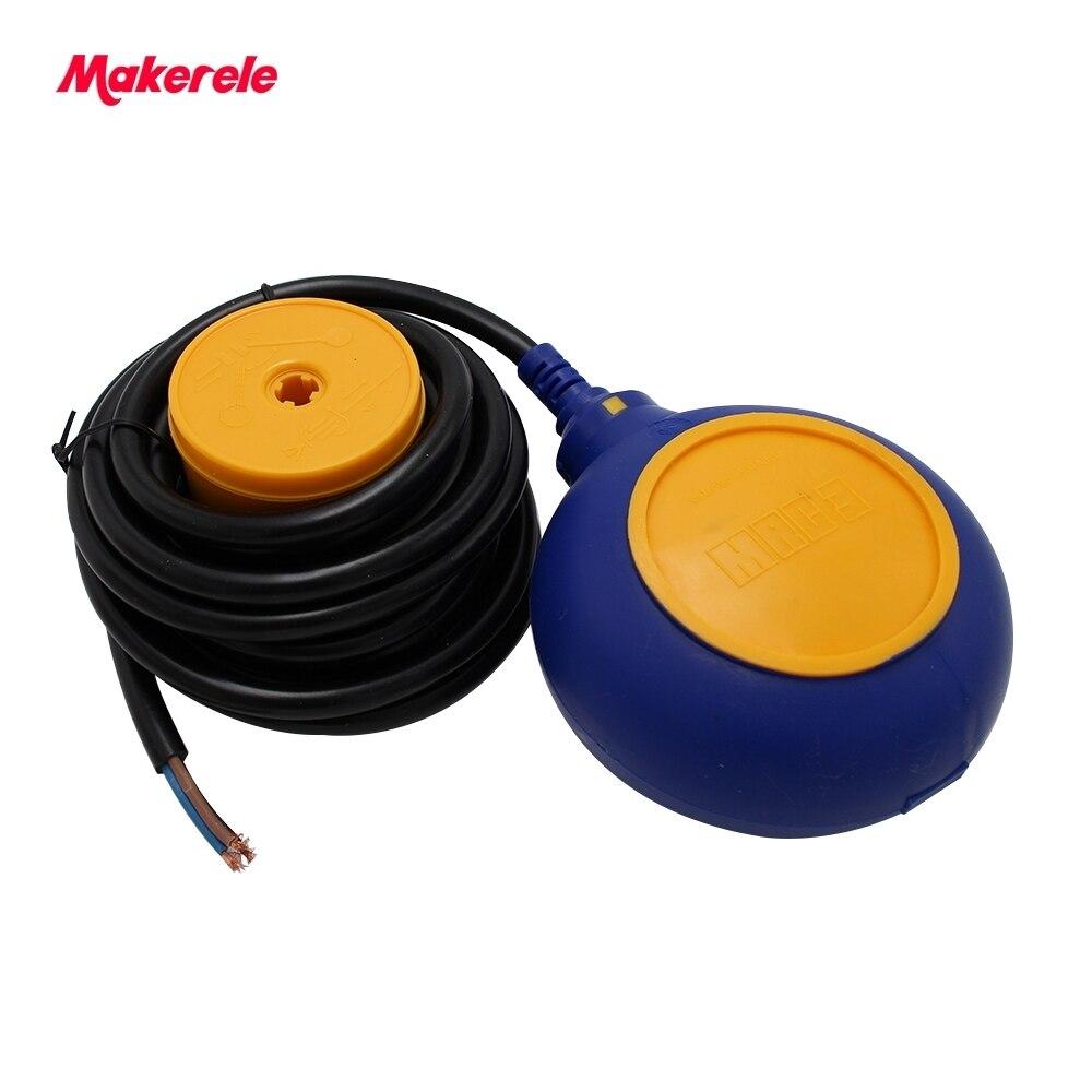 Offre spéciale chine câble réservoir d'eau niveau flotteur interrupteur MK-CFS03 4 mètres AC 250 V flotteur interrupteur câble fluide niveau contrôleur - 2