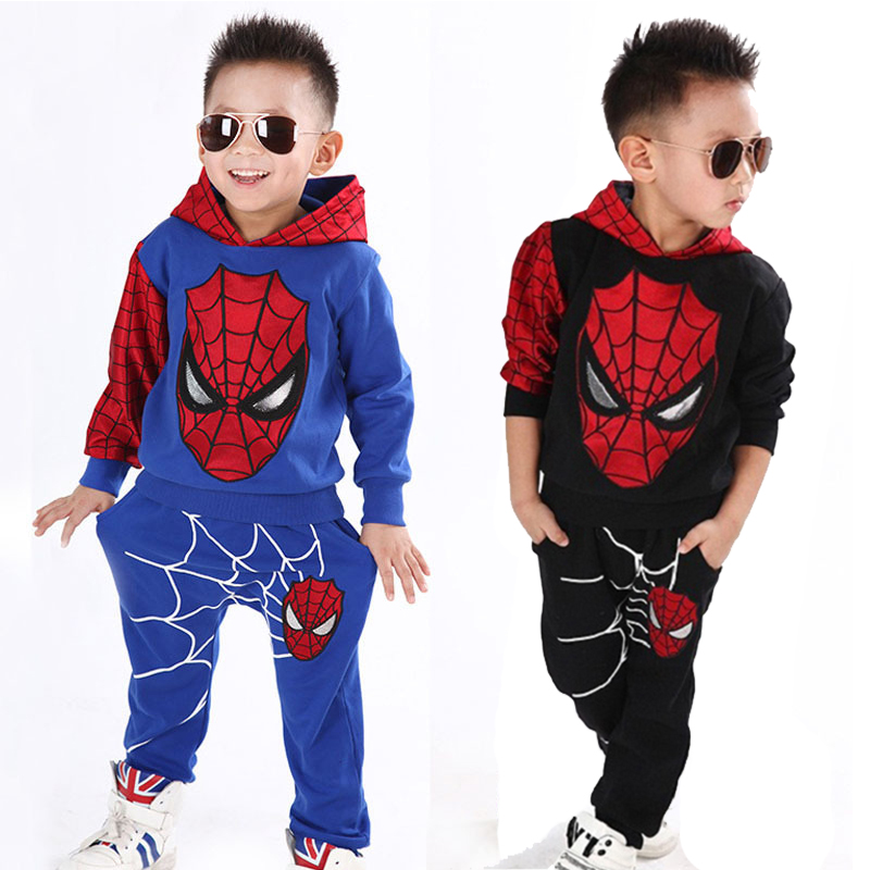 Spiderman  Sport Suit Children Fashion Superhero Costume