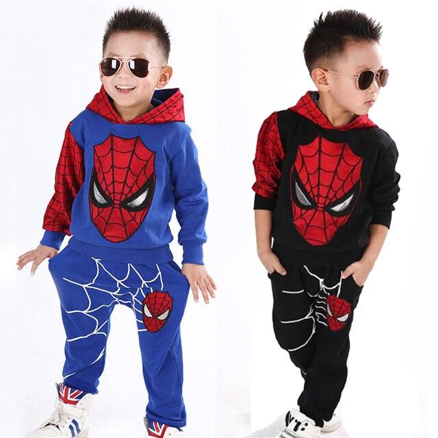Spiderman  Sport Suit Children Fashion Superhero Costume