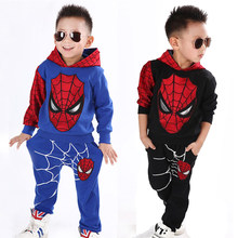 Spiderman Baby Jongens Kleding Set Sport Pak Kinderen Fashion Kind Spider Man Superhero Kostuum Hoodie Trainingspak Kleding(China)