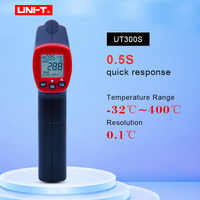 Infrared Thermometer Measure Non-Contact Fast Test Max Min Display Industrial MINI Digital Meter Temperature Scan UNI-T UT300S