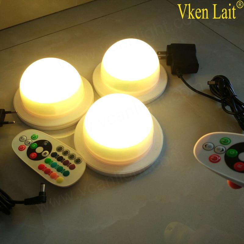 DHL 48 LED S livraison gratuite 120mm LED RGB batterie Rechargeable lumière - 4