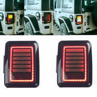 Upgraded Smoked LED Tail Lights 07 18 for Jeep Reverse Light Turn Signal Lamp Running Lights for Jeep Wrangler JK