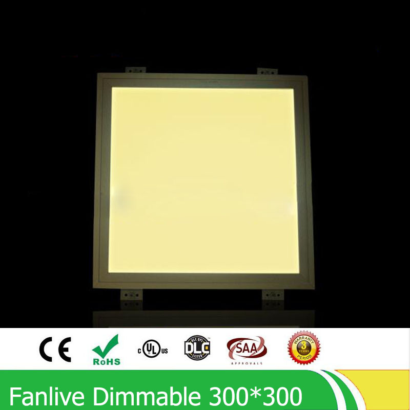 ФОТО 5pcs/lot 18W Embedded 300*300MM LED Panel,110VAC/220VAC Dimmable LED Downlights ,Warranty 3 Years