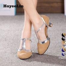 HoYeeLin تانجو أحذية النساء السيدات قاعة حزب الفالس الرقص الكعوب تو مغلق داخلي تسولي أحذية الرقص