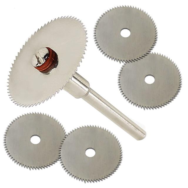 Accesorio de disco de corte de madera de 5 piezas 22mm para herramientas rotativas de Dremel herramientas de dremel