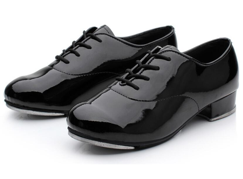 Image 2 - 2019 Size 25 44 Adult Men Children Boy Tap Dance Leather or PU Oxford Lace Up Shoes Girls Women Tap Dancing shoes WD194-in Dance shoes from Sports & Entertainment