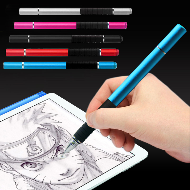 New 2 in 1 Metal Capacitive Screen Stylus Ballpoint Pen for iPhone 6/6s 7 iPad Tablet Android Phones EM88