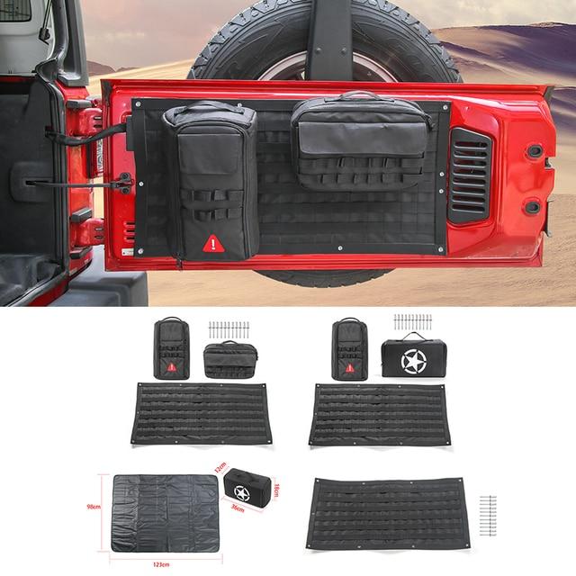 € 22.95 15% de réduction|SHINEKA accessoires de voiture porte arrière sacs de rangement trousse à outils organisateur tapis de Camping pour Jeep