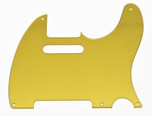Gold Mirror Vintage 5 Hole TL  Pickguard Scratch Plate
