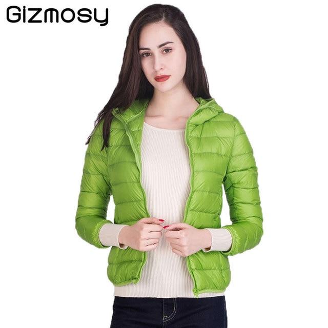 Winter Jacket Women Winter Coat 90% White Duck Down Womens Warm Slim Ultralight Down Jacket Female Plus Size Outwear BN594