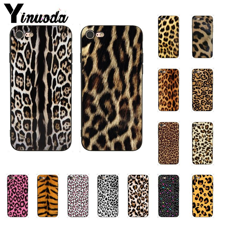 Yinuoda Fashion Tiger Leopard Print Panther    DIY Phone Case For Iphone 11 Pro Max 8 7 6 6S Plus X XS MAX 5 5S SE XR Cover