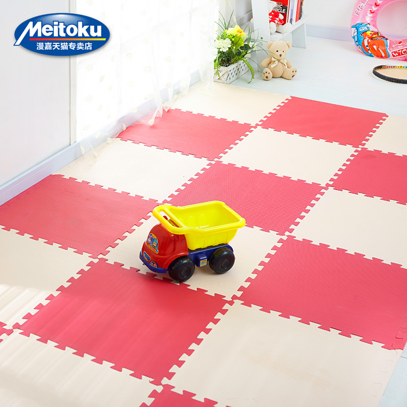 Meitoku-baby-EVA-Foam-Play-Puzzle-Mat-18-or-24lot-Interlocking-Exercise-Tiles-Floor-Mat-for-KidEach-30cmX30cm1cmThick-5