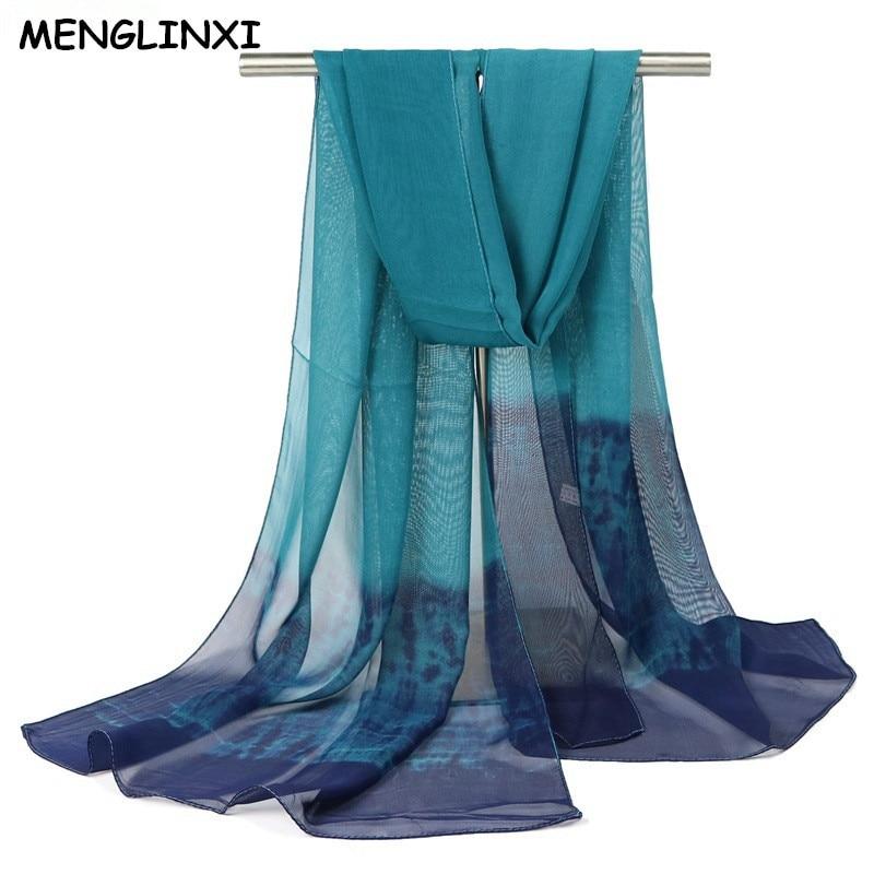 Ehrgeizig Neue 2017 Fashion Brand Gradient Farben Langen Schal Frauen Silk Chiffon Bandana Schal Dünne Weiche Hijab Und Druck Schals Wholesal Verbraucher Zuerst Bekleidung Zubehör