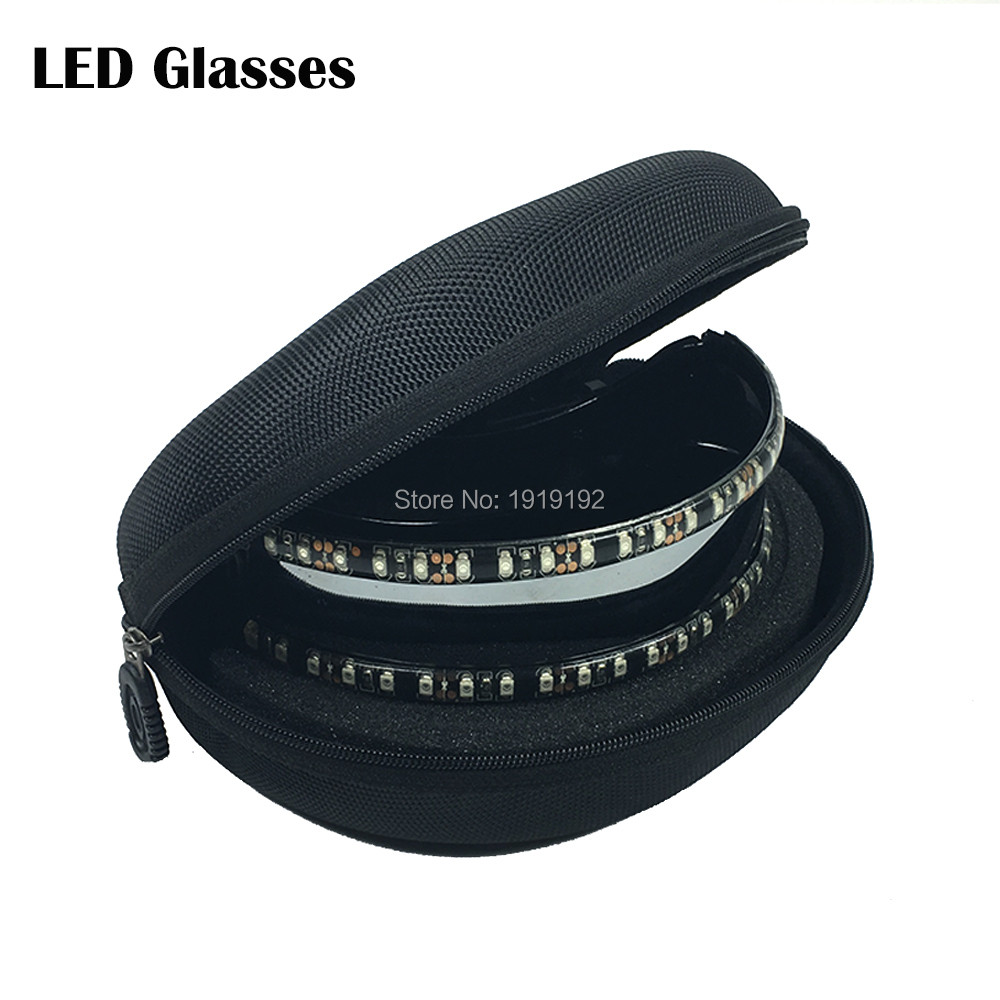 Fashion led glasses light 6 color choice Led Neon Glowing Glasses for Christmas Halloween Birthday Party Night Bar Dance Decor