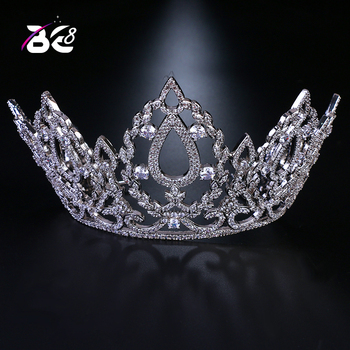 Be 8 Luxury New Pageant Headband Tiaras AAA Cubic Zircon Crown Women Hair Accessories for Wedding Gifts H143