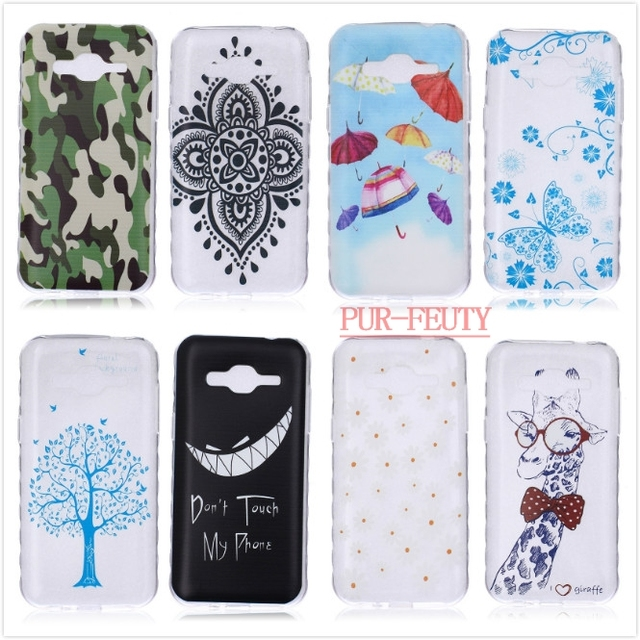 Lovely Painted Plastic TPU Soft Cases For Samsung Galaxy J2 Duos 2015 J200 SM-J200F J200F J2000 J 2 J200H SM-J200 Silicon Covers