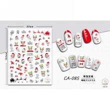 UPRETTEGO SUPER THIN SELF ADHENSIVE 3D NAIL ART NAIL SLIDER STICKER CHRISTMAS XMAS SNOW MAN SANTA DEERS SOCKS CA082-090