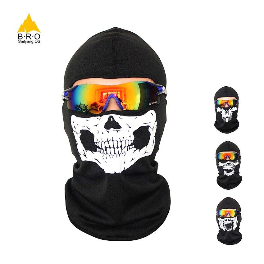 Begeistert Schädel Gesicht Maske Winter Masken Bandana Snowboard Balaclava Biker Hals Wärmer Sport Stirnband Männer Frauen Ski Masken Kappe Laufende Maske