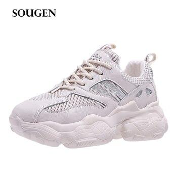 6e6b84e350 Chinelos Fêmea Home Loafer Krasovki Cesta Femme Marca de Luxo Mulheres 2019  Sapatos Scarpe Donna Ballerina Flats Tenis Feminino