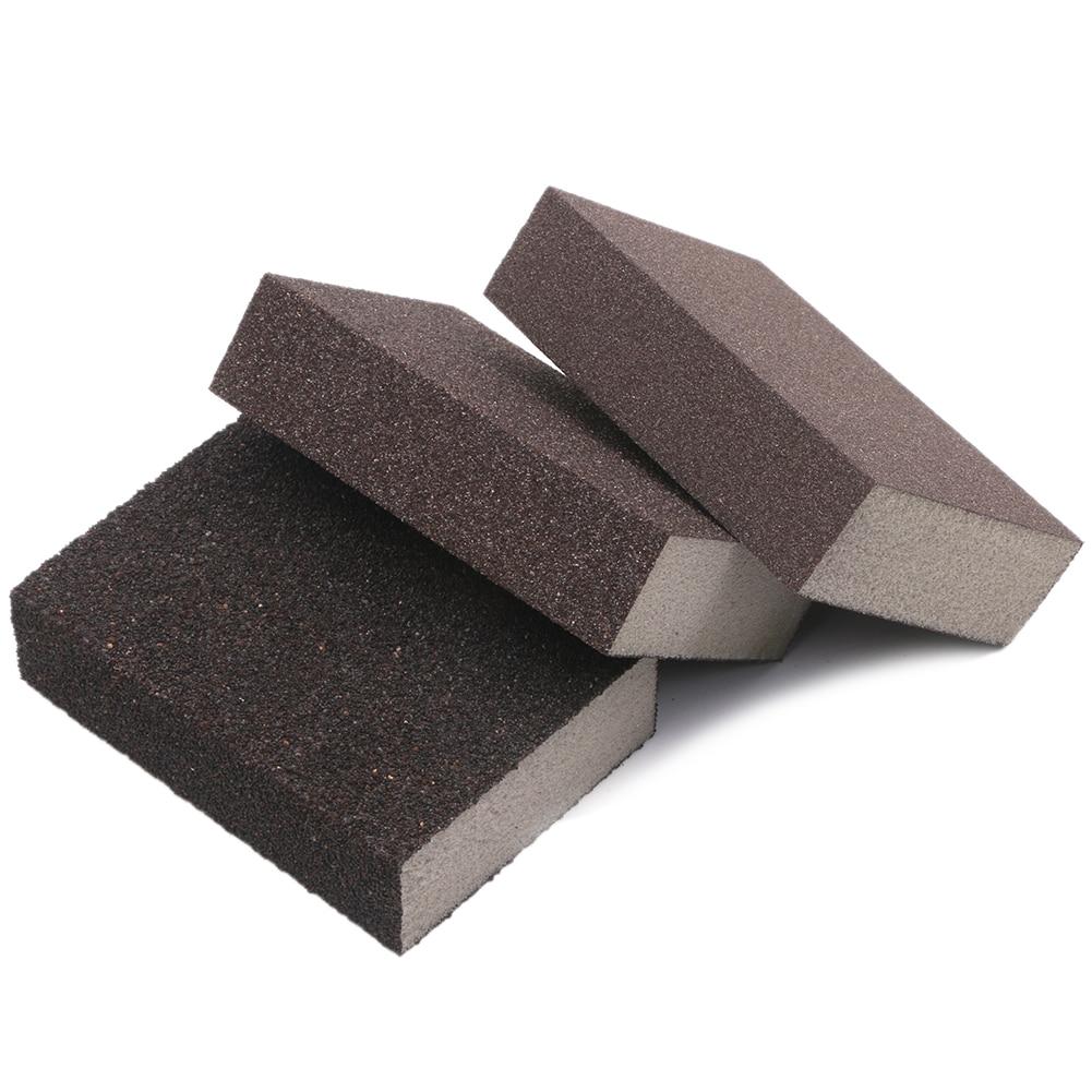 3PCS Drywall Polishing Sanding Sponge Block Sandpaper Assorted 100 180 320 Grit
