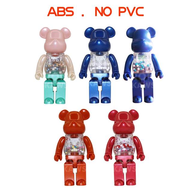 Ron Kaws 400 Bearbrick Bape Play Be Rbrick Abs Doll Collectible Toy