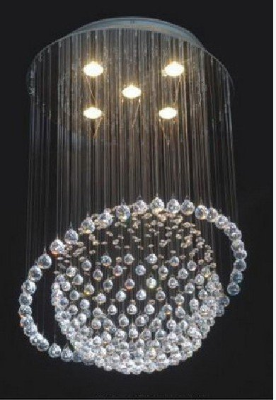 NEW New Modern 5-Light Saturn Crystal Pendant Light Ball lighting new