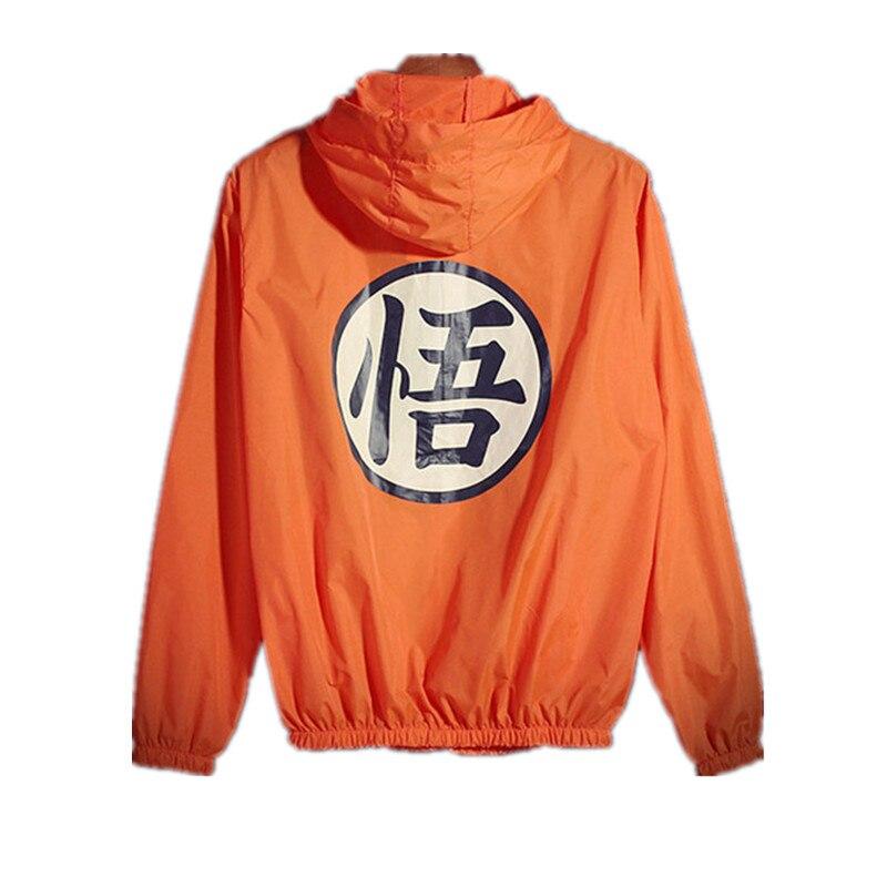 Anime Dragon Ball fino Sol protección cazadora con capucha unisex hip hop Cosplay mens verano Chaquetas jaqueta masculina 110805