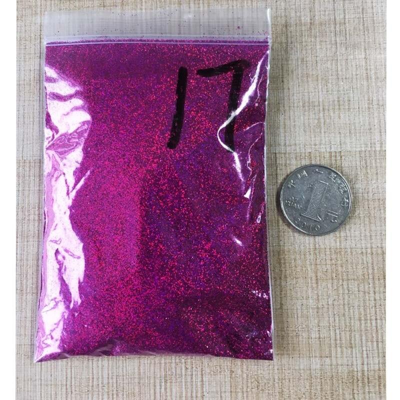 50 г/пакет тонкий голографический блестящий для ногтей порошок лазерный серебряный лак для ногтей Шестигранная форма лак для маникюра художественное оформление ногтей 0,2 мм - Цвет: 50G LS-17